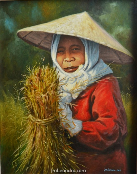 old woman and the harvest.JPG