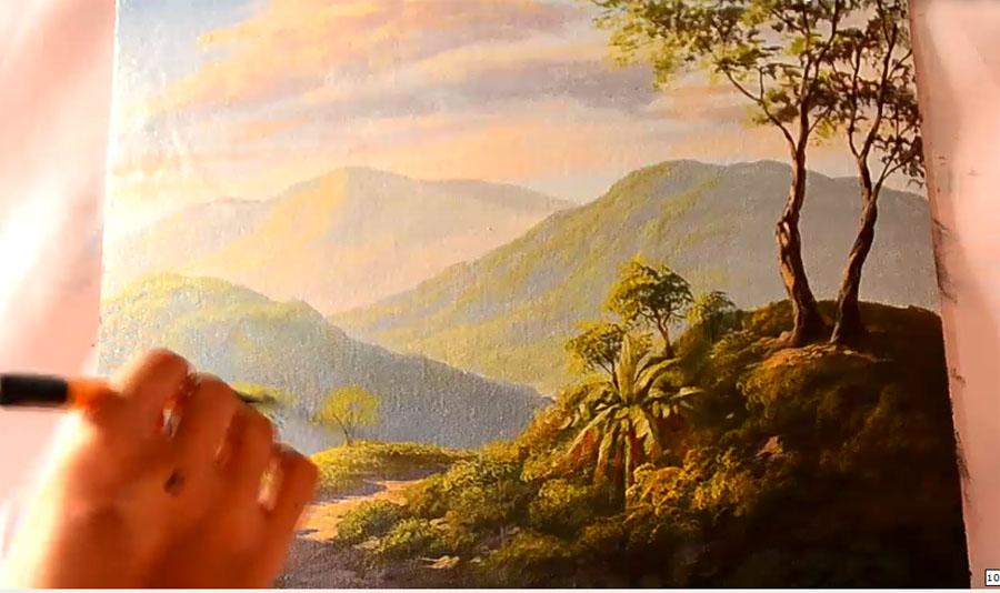 Acrylic Landscape Painting Demo By JM Lisondra