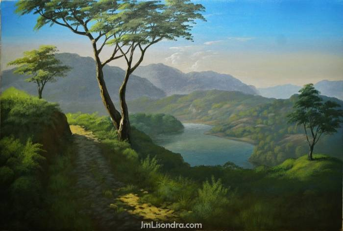 Instructional Video: Acrylic Landscape Demo And Tutorials
