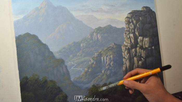 Painting Demonstrations In Time-Lapse Video