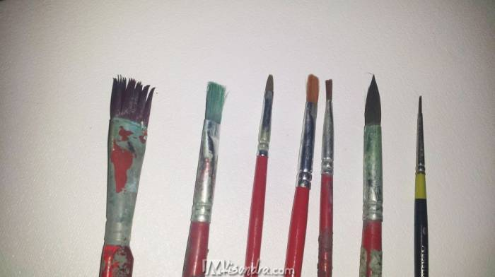 Most Common Brushes I Used In Painting