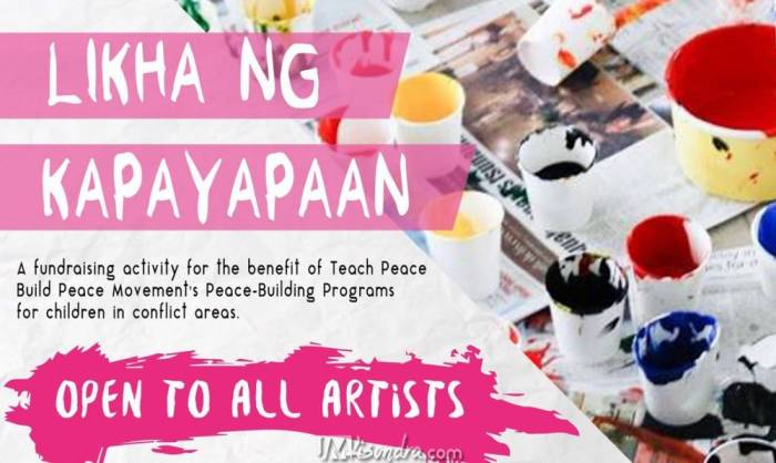 Calling All Artists On Likha Ng Kapayapaan: Pieces Of Peace Art Exhibit