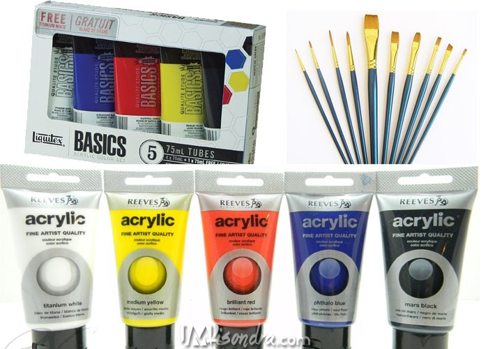 Recommended Art Materials Available At Amazon