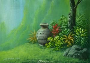Vase In The Garden