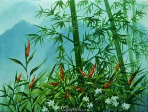 Bamboos On Misty Mountain