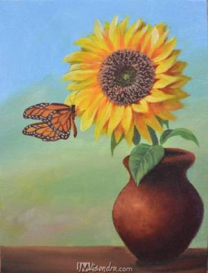 Sunflower And The Butterfly