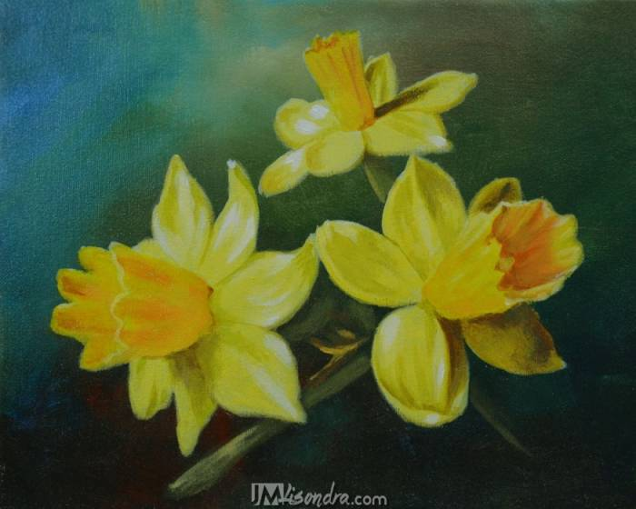 Reference Photos For How To Paint Daffodil Flowers In Acrylic