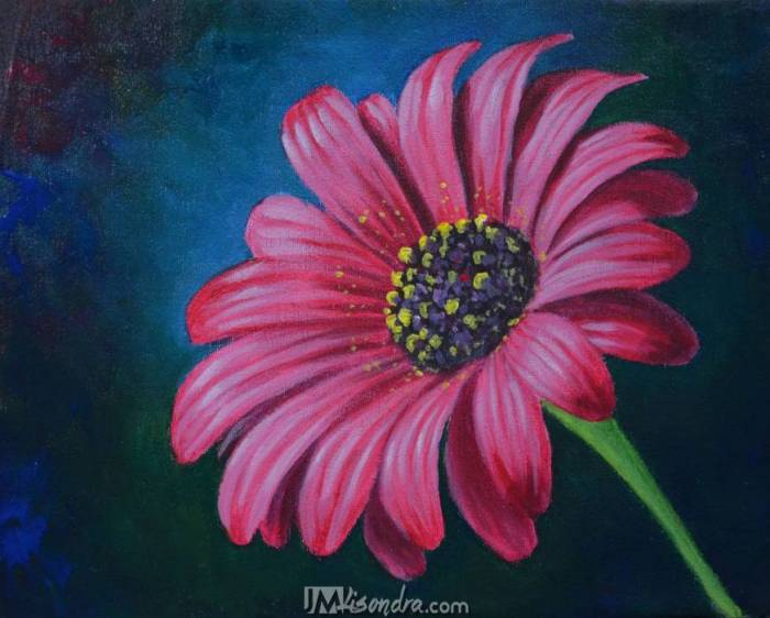Reference Photos For - How To Paint A Daisy Flower In Acrylic Full Painting Tutorial By JM Lisondra