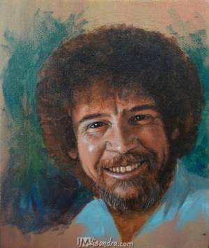 Portrait Of Bob Ross