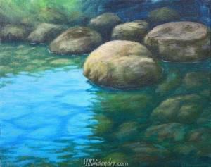 Underwater Rocks In The River