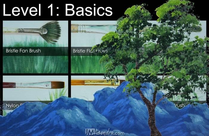 acrylic landscape painting level 1: basics