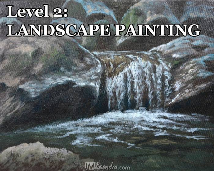 acrylic landscape painting level 2: simple landscapes